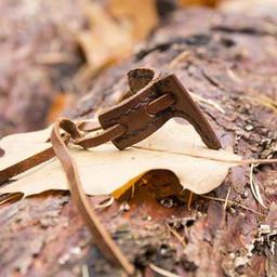 Skidan krok för lajv svärd, brun