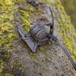 Leather holster hook for LARP sword, black
