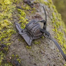 Epic Armoury Läder hölster krok för lajv svärd, svart