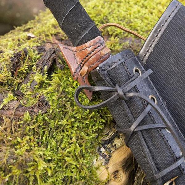 Epic Armoury Leren haakje voor LARP zwaard, bruin