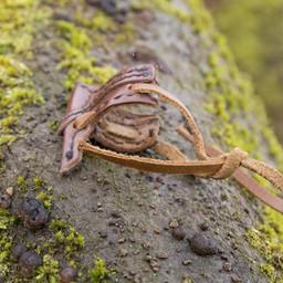 Skórzana kabura na hak LARP mieczem, brązowy