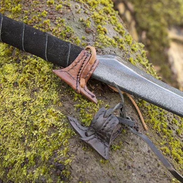 Epic Armoury Crochet étui en cuir pour épée LARP, brun
