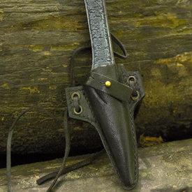 Epic Armoury LARP Halsabschneider Messer mit Halter, schwarz