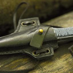 LARP Halsabschneider Messer mit Halter, schwarz