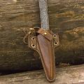 Epic Armoury LARP cuchillo degollada con soporte, marrón