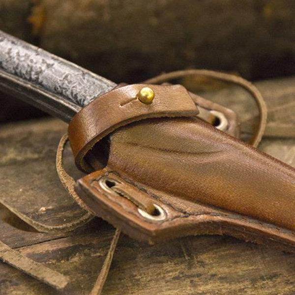 Epic Armoury Larp skarp kniv med holder, brun