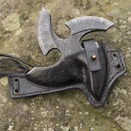LARP shuriken with holder, black