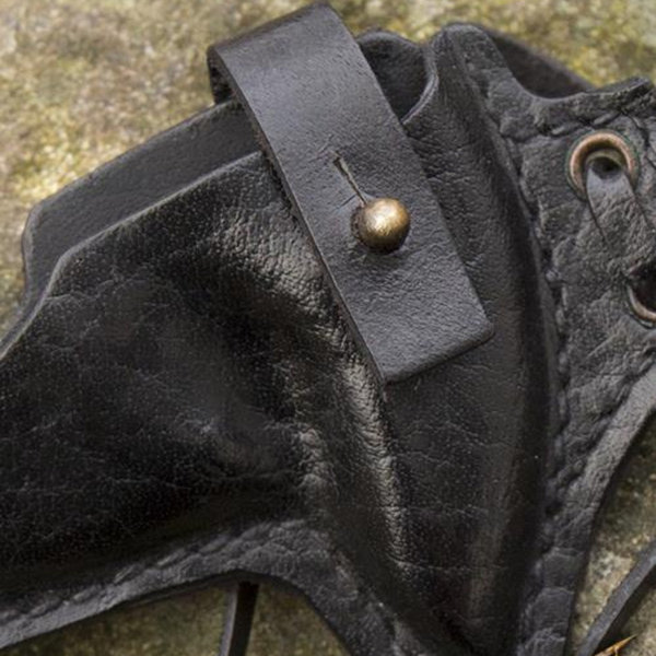 Epic Armoury LARP shuriken med hållare, svart