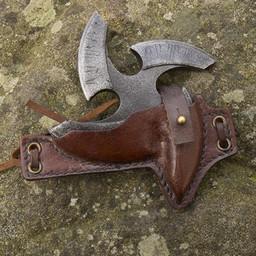 LARP shuriken with holder, brown