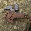 Epic Armoury shuriken LARP con soporte, marrón
