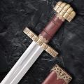 Deepeeka 9de eeuws Vikingzwaard Haithabu, damascusstaal