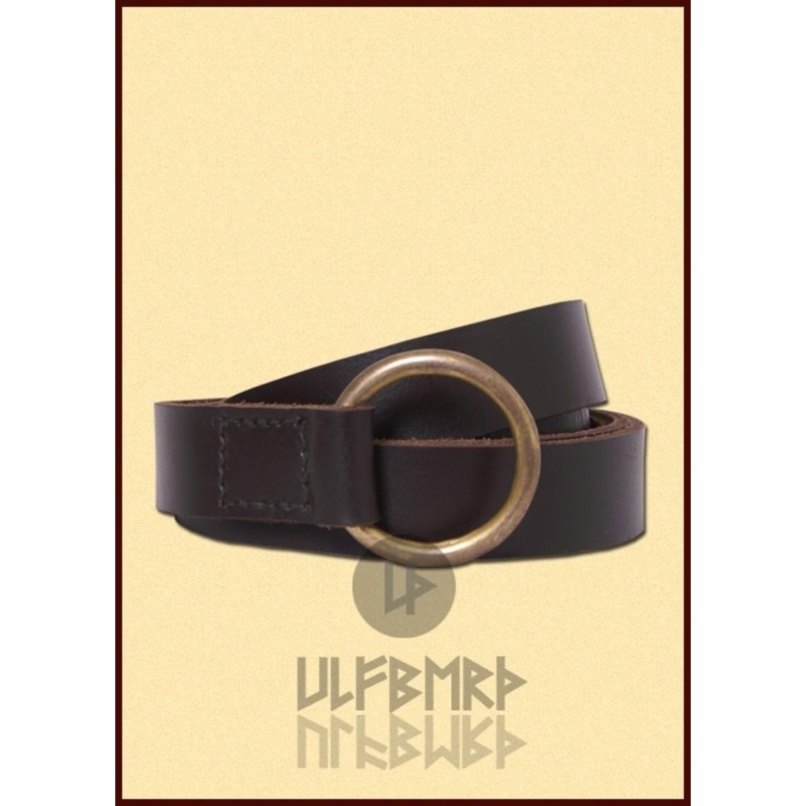 Ulfberth Medieval marrón correa del anillo, 160 cm