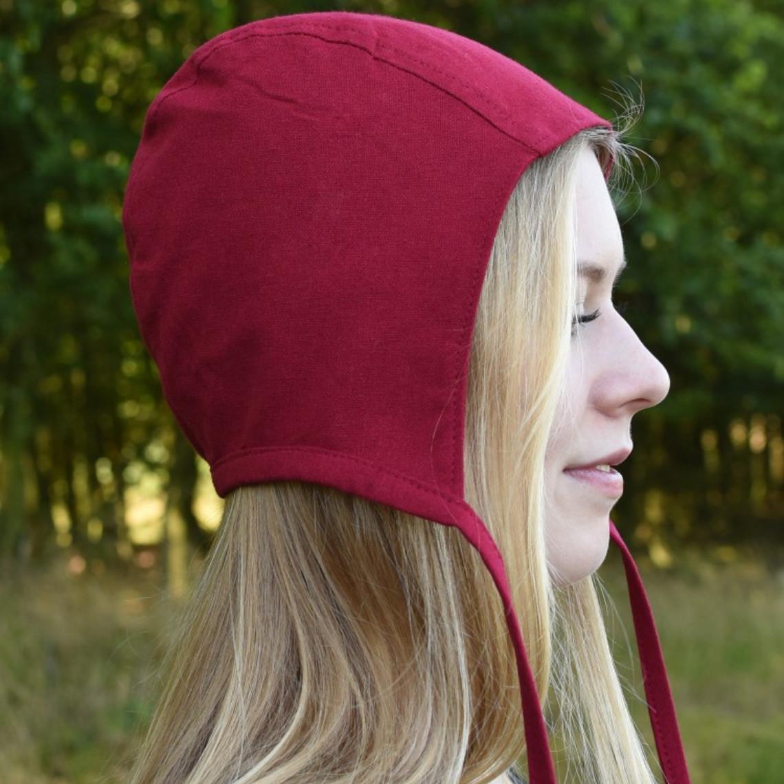 cap médiéval-Renaissance Gouda, rouge