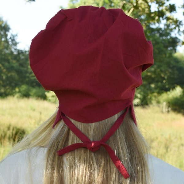 Pleated cap Amsterdam, red