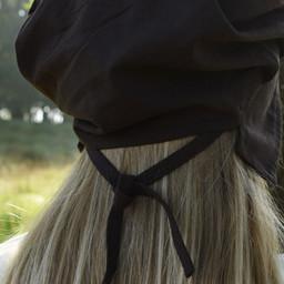 Pleated cap Amsterdam, brown