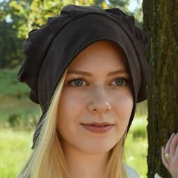Pleated cap Amsterdam, black