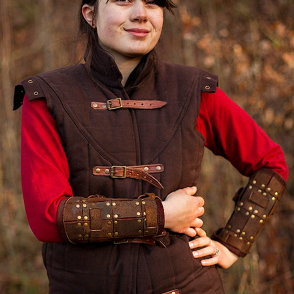 Epic Armoury Para vambraces Fighter, brązowy