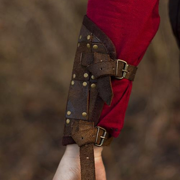 Epic Armoury Coppia di bracciali Fighter, marrone