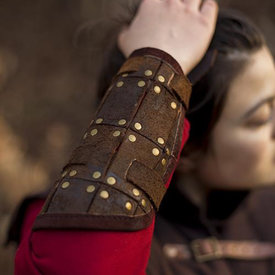 Epic Armoury Par de brazales de combate, marrón