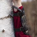 Epic Armoury Par de brazales de combate, negro