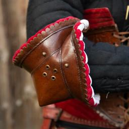 Couters par de cuero, de color marrón-rojo