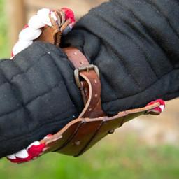 Par läder couters, brunröda