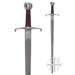 Średniowieczny miecz jednoręczny 1310, Royal Armouries, gotowy do bitwy