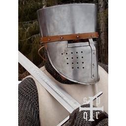 Miecz templariuszy Milites Templi, gotowy do walki