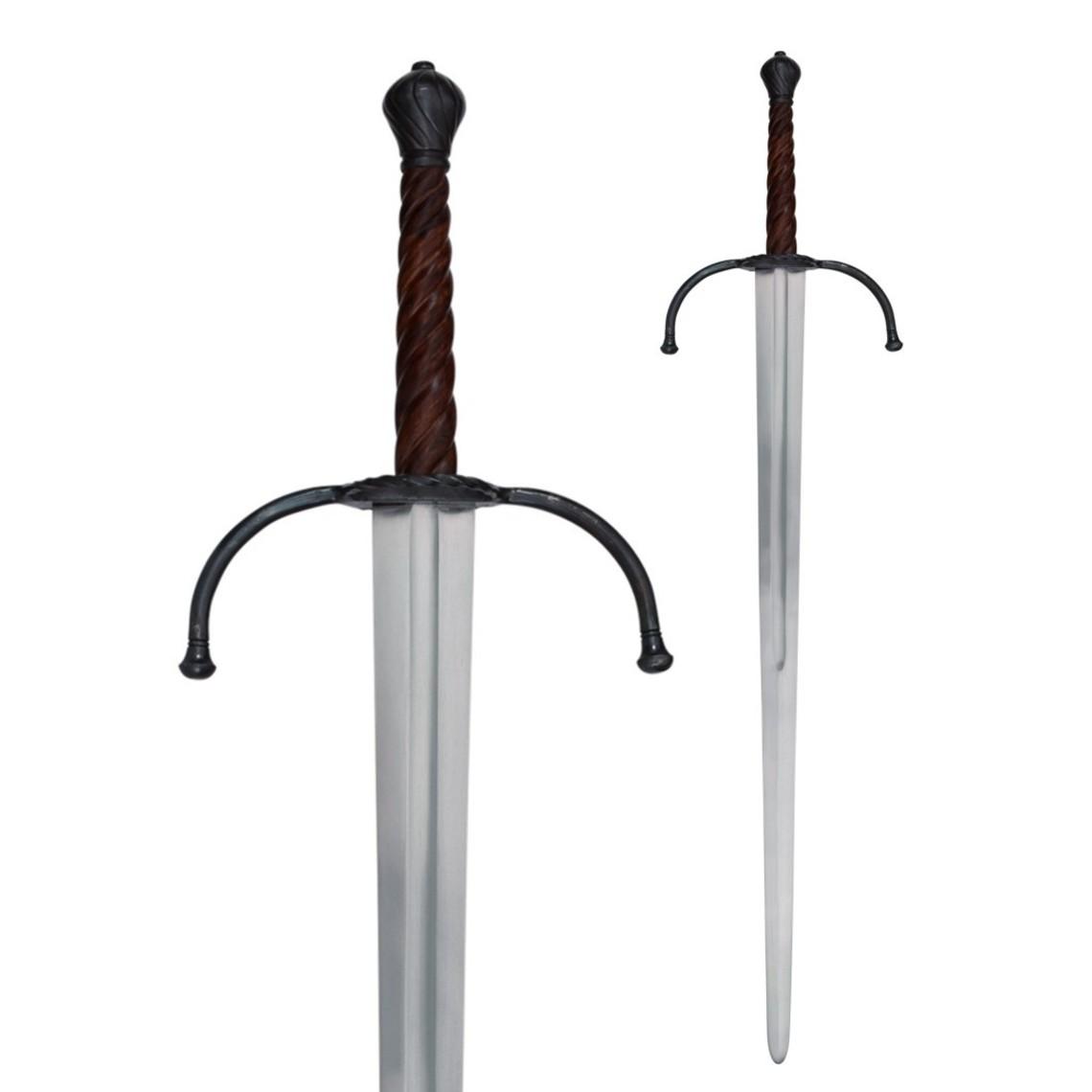 Deepeeka Espada bastarda del siglo XIV, lista para la batalla