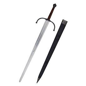 Deepeeka Épée bâtarde du XIVe siècle prête au combat