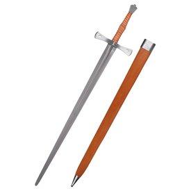 Deepeeka Espada de mano y media del siglo XV Shrewsbury, semi-afilada