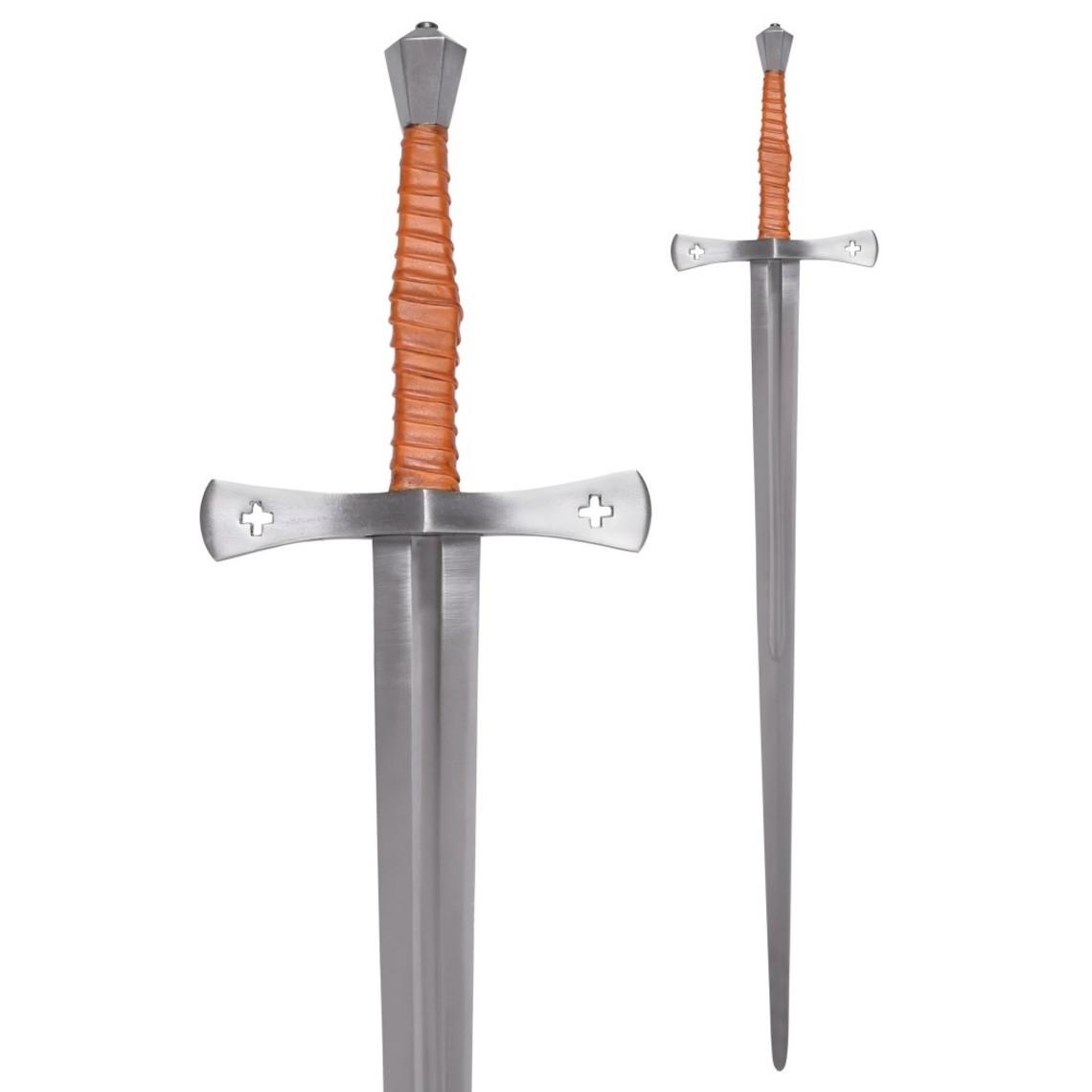 Deepeeka Espada de mano y media del siglo XV Shrewsbury, battle-ready