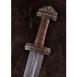 Miecz wikingów na wyspie Eigg Damaszku stali nierdzewnej, skórzany uchwyt