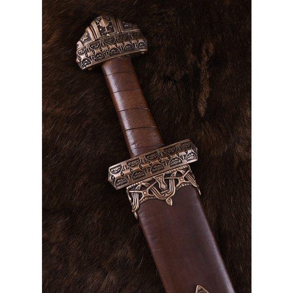 Deepeeka Viking sværd ø Eigg damascus stål, læder greb