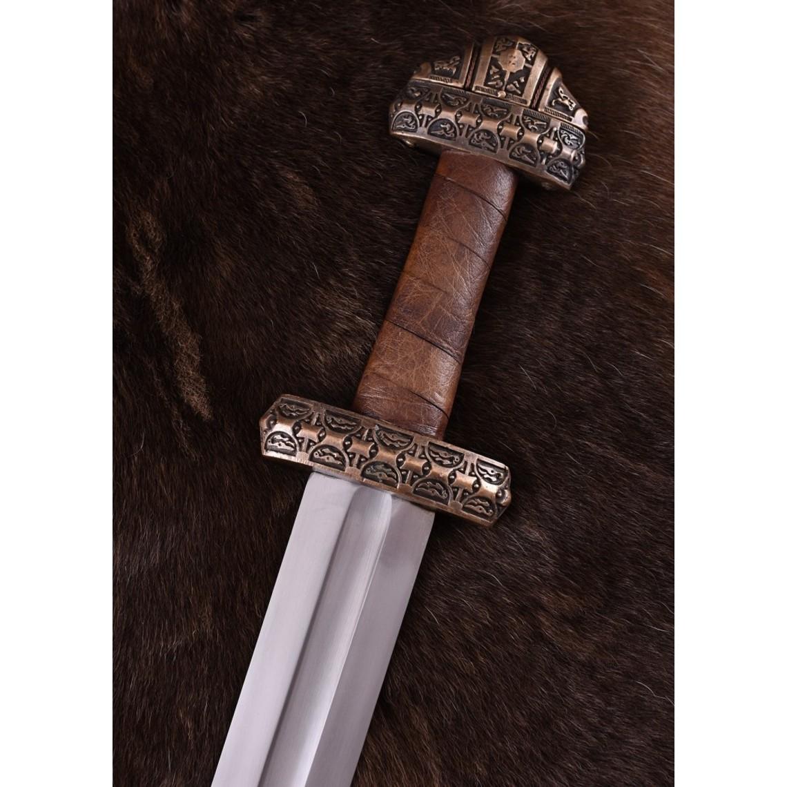 Deepeeka Viking espada isla Eigg, empuñadura de cuero