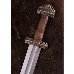 Viking sword island Eigg, leather grip
