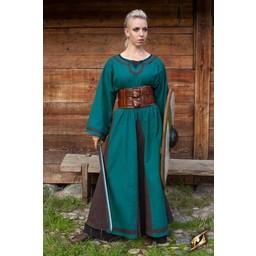 Viking dress Astrid, azure-brown
