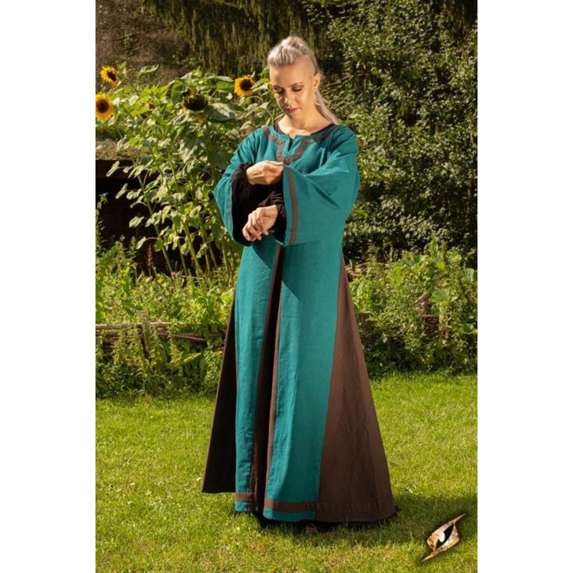 Epic Armoury Viking sukienka Astrid, lazur-brązowy