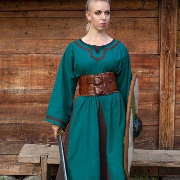 Epic Armoury Viking kjole Astrid, azurblå-brun