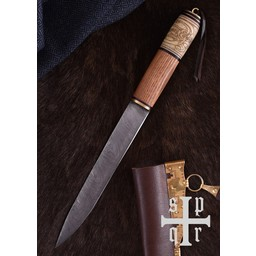Viking SEax med knut motiv, Damaskus stål