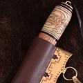 SPQR Viking seax avec motif noeud, damas acier