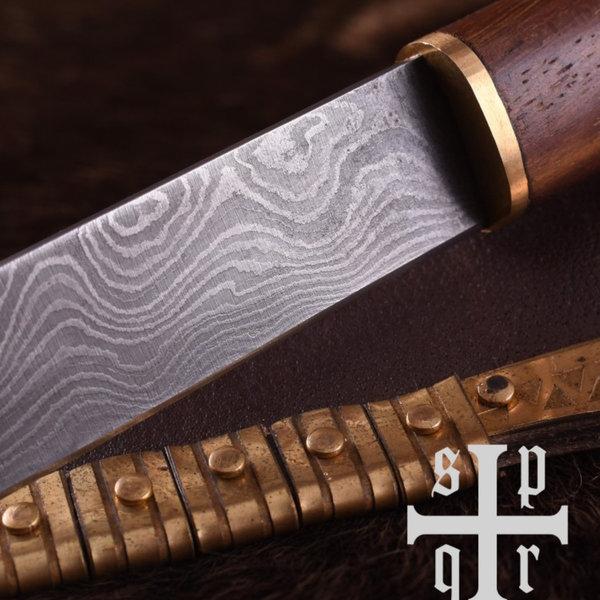 SPQR Viking kniv Kattegatt, Damaskus stål