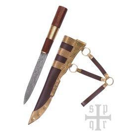 SPQR couteau Viking Kattegat, damas acier