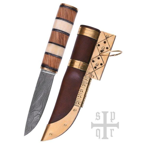 SPQR couteau Viking Visby, damas acier