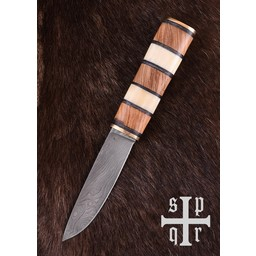 Viking nóż Visby, Damaszku stali