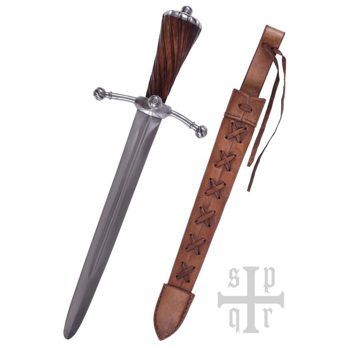 SPQR Laatmiddeleeuwse dolk Landsknecht, battle-ready