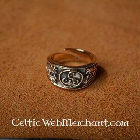 Celtic Triskelion pierścień mały