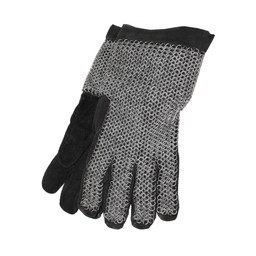 Galvanised chainmail gloves, 6 mm
