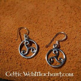 Triskelionen örhängen, silver