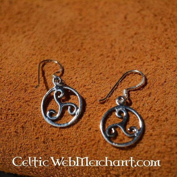 Triskelion øreringe, sølv